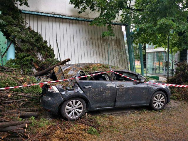 Auto danneggiata ad Arco (1)